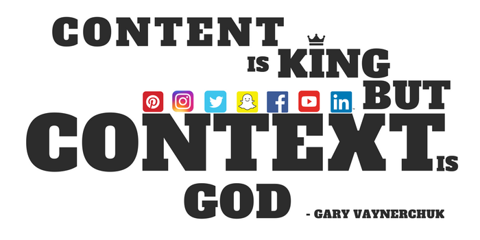 Gary V Content is King Quote design