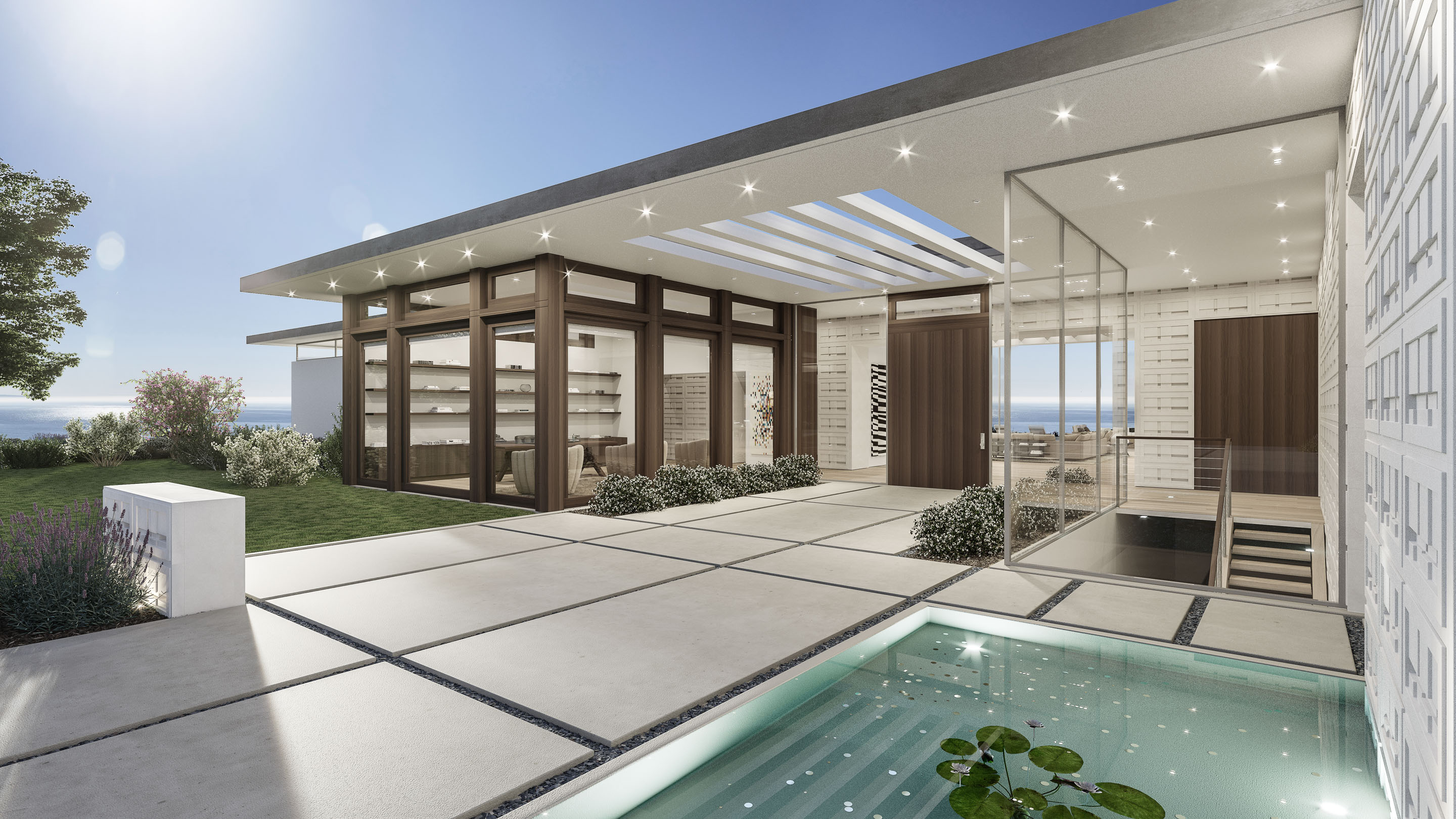 Featuring five mid century modern homes atop a bluff in the guard gated malibu colony community that are slated for completion in mid 2020