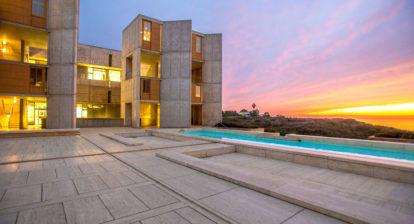 Louis Kahn salk institute sunset photo
