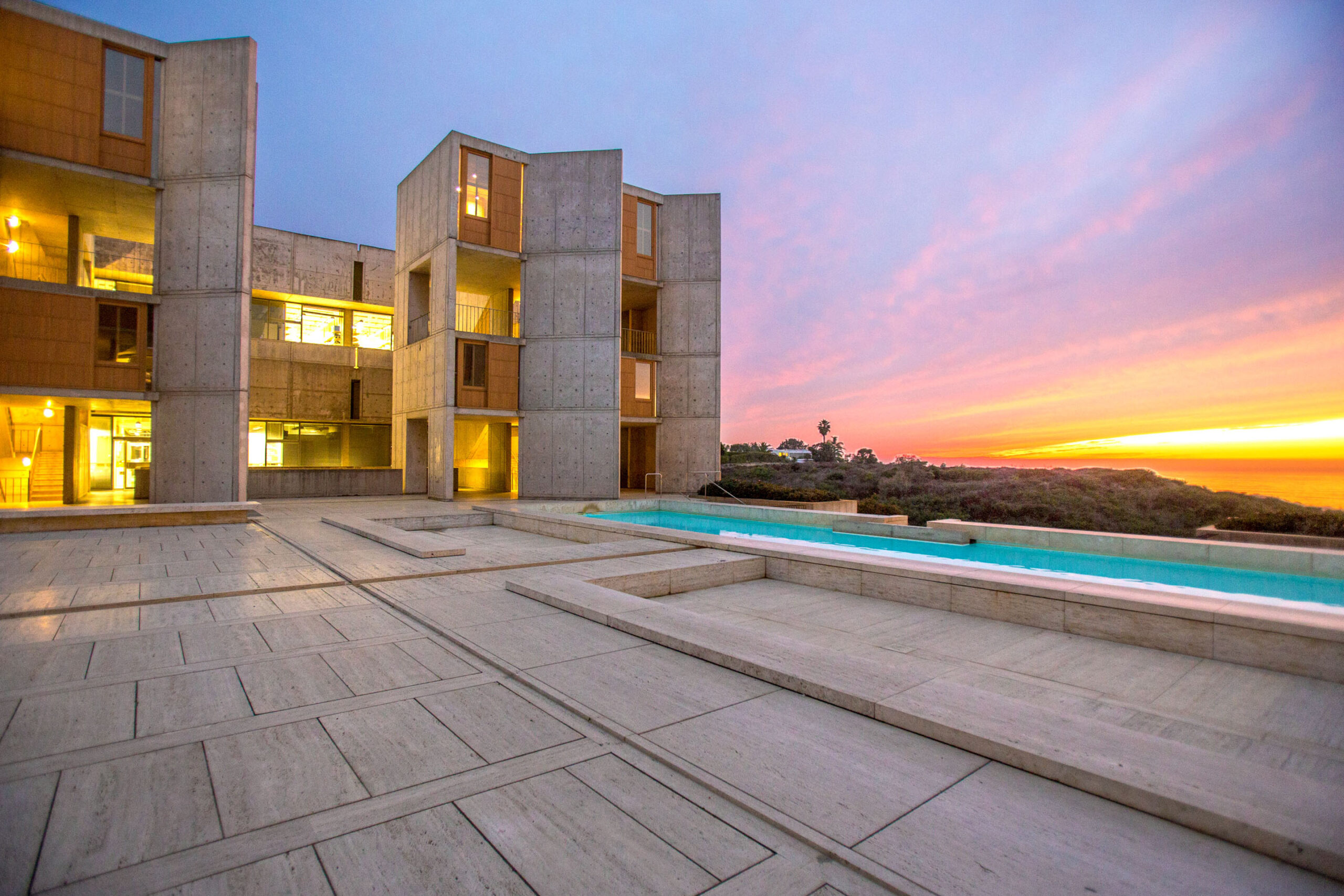 Louis Kahn salk institute sunset photo