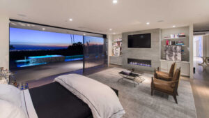Bedroom in Trousdale Estates featured in South Bay DIGS Magazine