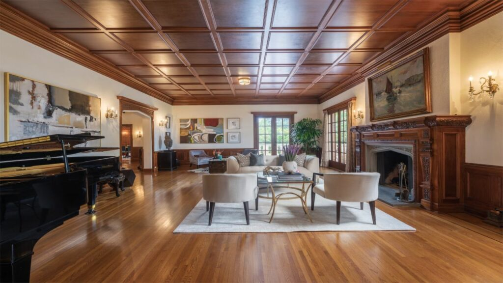 1926 tudor style grand piano room