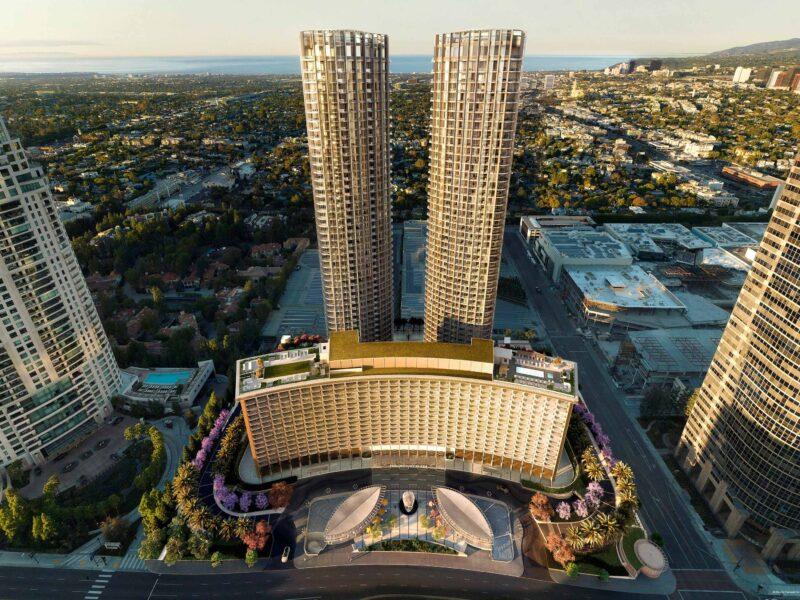 Fairmont Century Plaza aerial