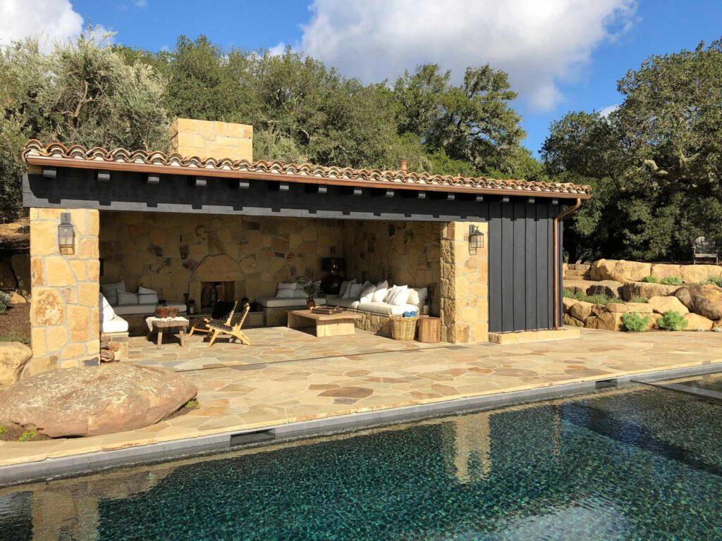 santa barbara ranch-style pool