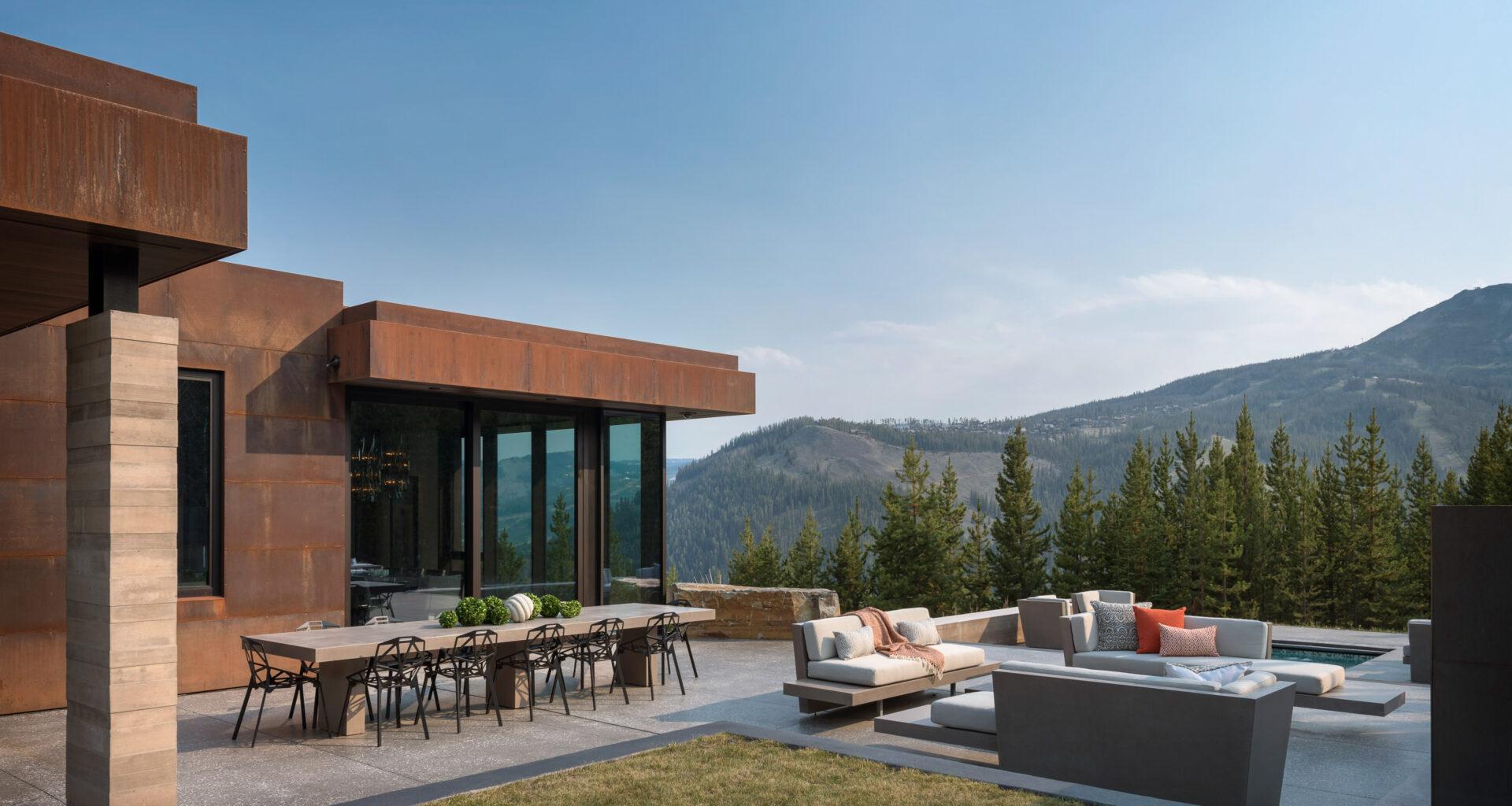 Stuart Silk, Stuart Silk Architects, Big Sky, Montana, modern home, extreme landscape, winter, architect, architecture,