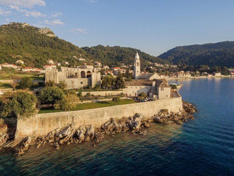 Croatia, Arhitecktri, Lopud 1483, castle, waterfront, island